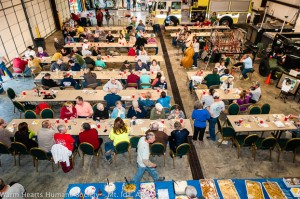 A great crowd was on hand to enjoy the fish fry and to help support Warm Hearts.